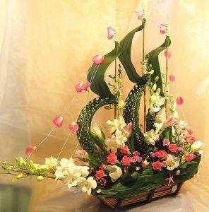Một số kiểu cắm hoa nghệ thuật và nguyên tắc khi cắm